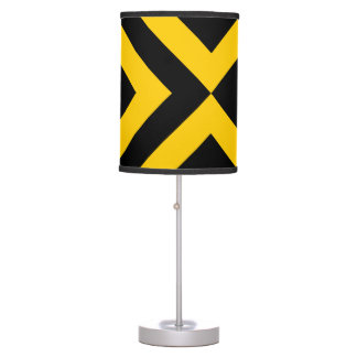 Yellow and Black Chevrons Table Lamp