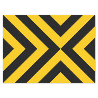 """Yellow and Black Chevrons Tissue Paper 17"""" X 23"""" Tissue Paper"""