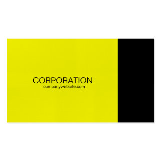 Yellow and black classy business card with website