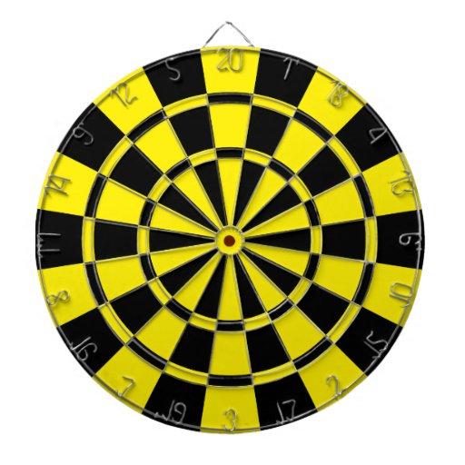 Yellow And Black Dart Board