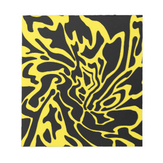 Yellow and black decor notepad