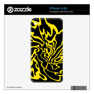 Yellow and black decor skin for the iPhone 4