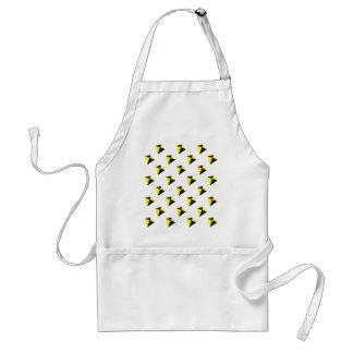 Yellow and Black Diamond Kites Pattern Adult Apron