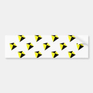 Yellow and Black Diamond Kites Pattern Bumper Stickers
