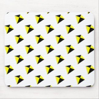 Yellow and Black Diamond Kites Pattern Mouse Pad