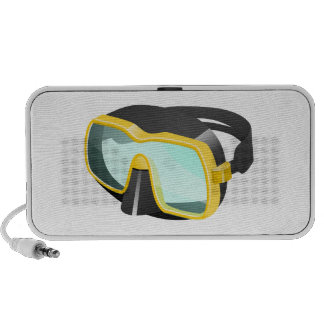 Yellow and Black Diving/Scuba/Snorkeling Mask iPhone Speaker