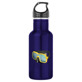 Yellow and Black Diving/Scuba/Snorkeling Mask Stainless Steel Water Bottle
