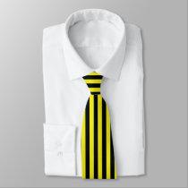 Yellow and black Emar Design Neck Tie