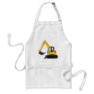 Yellow and Black Excavator Construction Machine Aprons