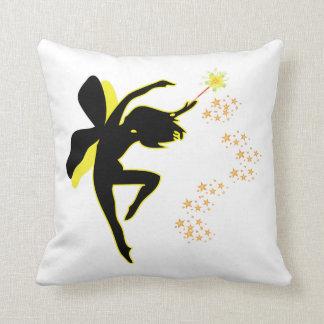 Yellow and Black Fairy Pillow