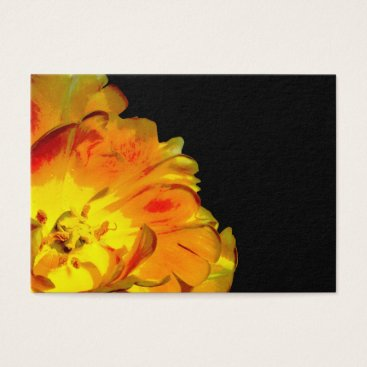 Professional Business Yellow and Black Floral Business Card