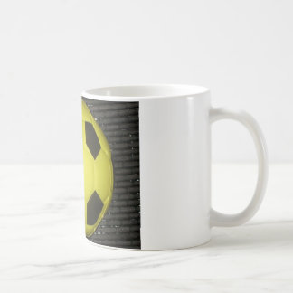 Yellow and black Football. Coffee Mug