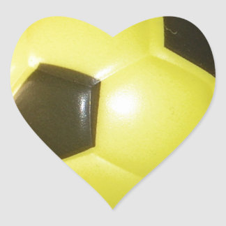 Yellow and black Football. Heart Sticker