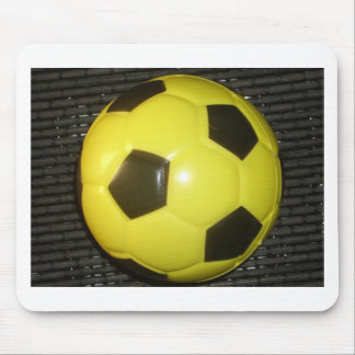 Yellow and black Football. Mouse Pad