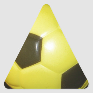 Yellow and black Football. Triangle Sticker