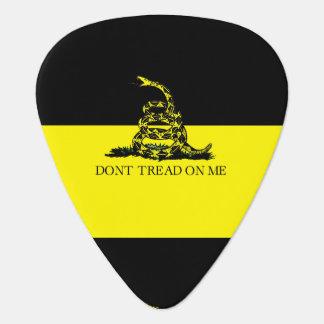 Yellow and Black Gadsden Flag Guitar Pick