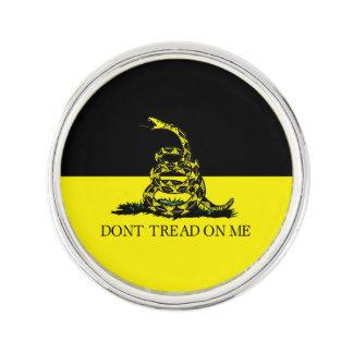 Yellow and Black Gadsden Flag Pin