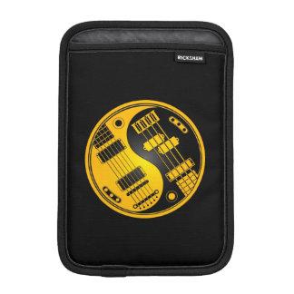 Yellow and Black Guitar and Bass Yin Yang iPad Mini Sleeves