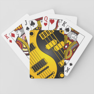Yellow and Black Guitar and Bass Yin Yang Deck Of Cards