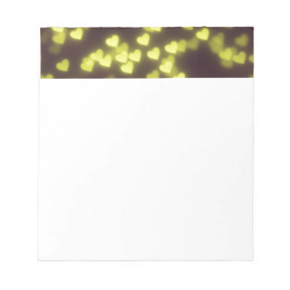 Yellow and Black Heart Pattern Notepad