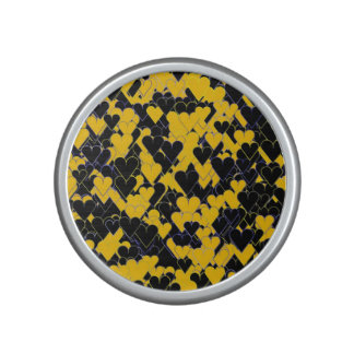 Yellow and Black Hearts Bluetooth Speaker