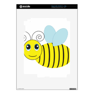 Yellow and Black Honey Bee Decal For The iPad 2