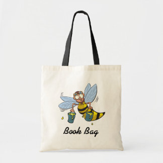 yellow and black hornet wasp bee with honey tote bag