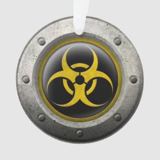 Yellow and Black Industrial Biohazard Steel Effect