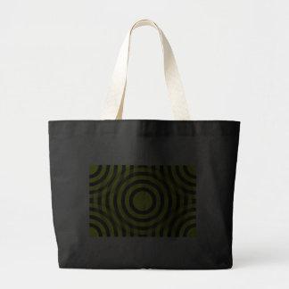 yellow_and_black_interlocking_concentric_circles canvas bag