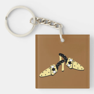 Yellow and Black Mules Acrylic Key Chains