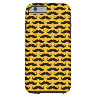 Yellow and Black Mustache Patterned iPhone 6 case iPhone 6 Case
