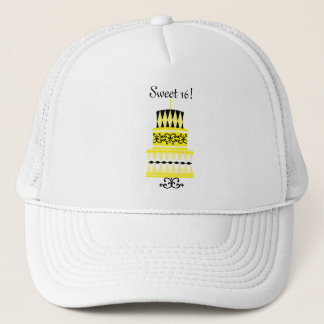 Yellow and Black Party Cake Trucker Hat
