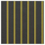[ Thumbnail: Yellow and Black Pattern Fabric ]