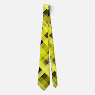Yellow and Black Plaid Tie