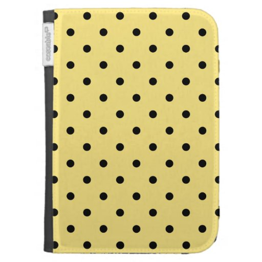 Yellow and Black Polka Dot Pattern. Kindle 3G Cover