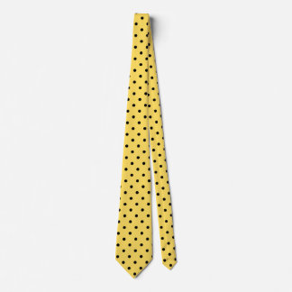 Yellow and Black Polka Dot Pattern Tie