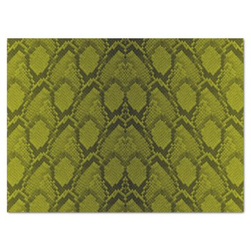 Halloween Themed Yellow and Black Python Snake Skin Reptile Scales Tissue Paper