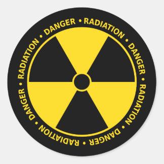 Yellow and Black Radiation Symbol Sticker