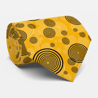 Yellow and black retro tie