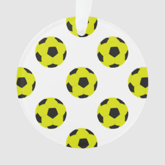 Yellow and Black Soccer Ball Pattern