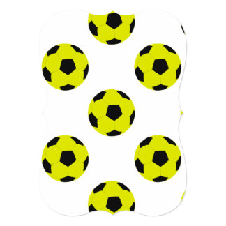 Yellow and Black Soccer Ball Pattern Card