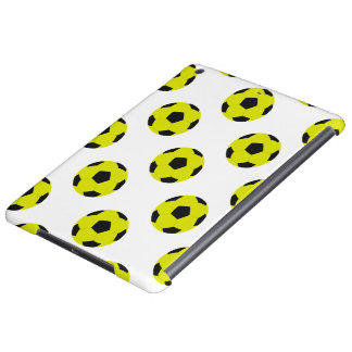 Yellow and Black Soccer Ball Pattern iPad Air Case