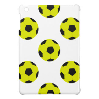 Yellow and Black Soccer Ball Pattern iPad Mini Cover