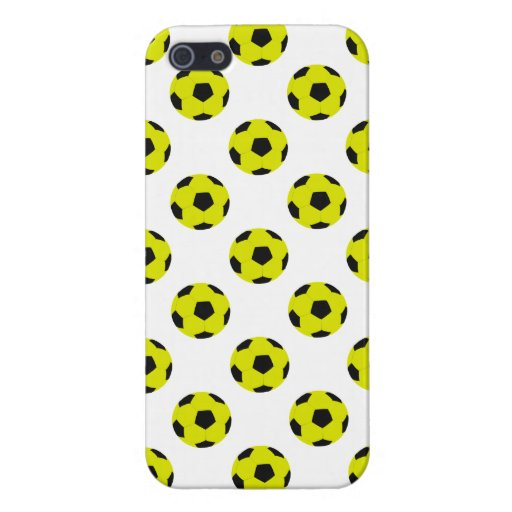 Yellow and Black Soccer Ball Pattern iPhone 5 Covers