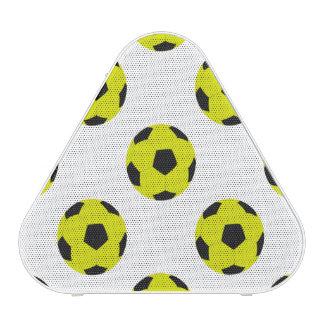 Yellow and Black Soccer Ball Pattern Speaker
