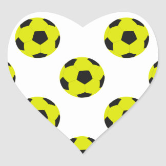 Yellow and Black Soccer Ball Pattern Stickers