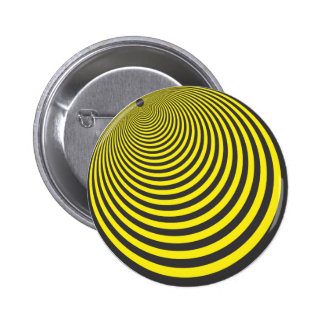 Yellow and black sphere illusion buttons