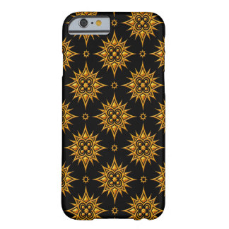 Yellow and Black Star Pattern iPhone 6 Case