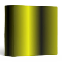 Yellow and Black Stripe Bumblebee Design 3 Ring Binders