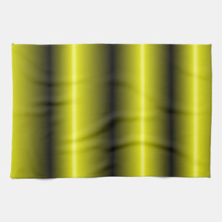 Yellow and Black Stripe Bumblebee Design Kitchen Towel